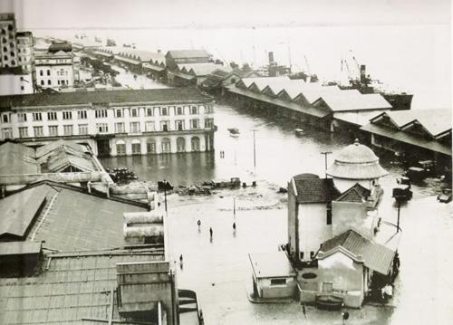 enchente de abril de 1941 na região central de Porto Alegre