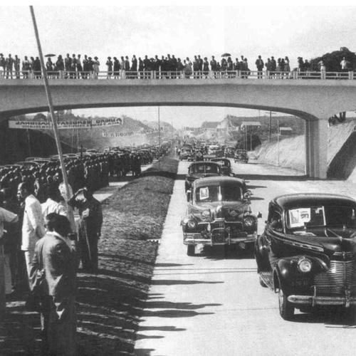 Inauguração da Via Dutra em 19 de janeiro de 1951