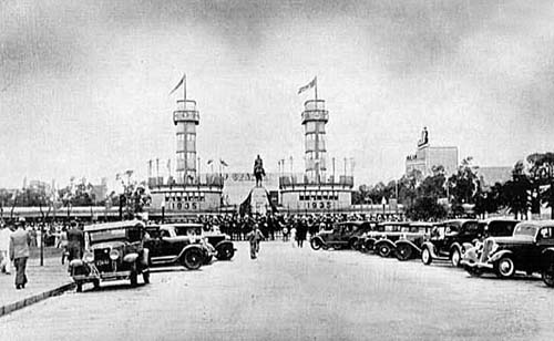 Pórtico de entrada da Exposição Farroupilha - 1935