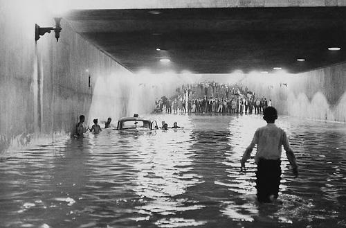 Enchente no túnel do Anhangabaú - 1963