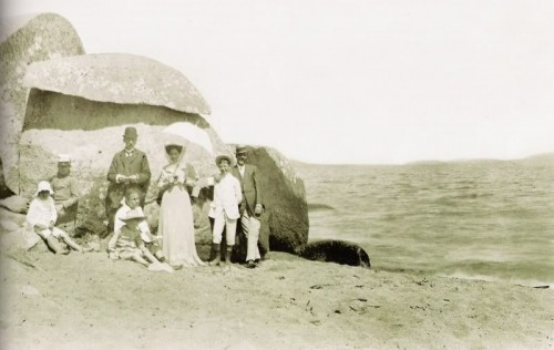 Praia da Pedra Redonda no lado Guaíba - 1900