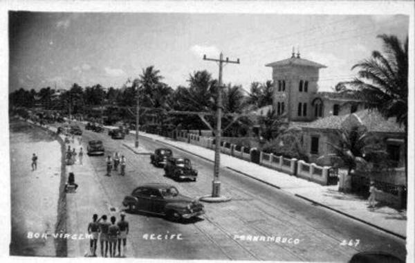 Avenida Boa Viagem na primeira metade do século XX